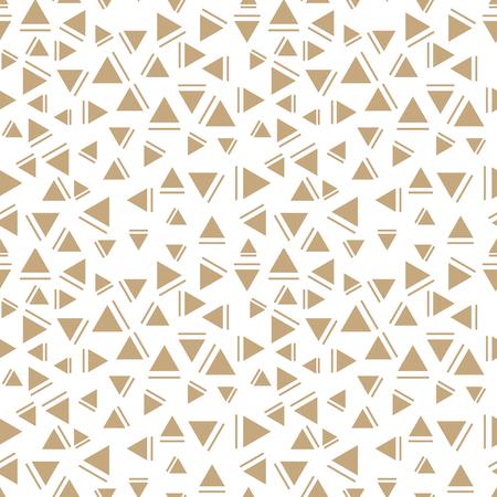 memphis style triangle seamless pattern Ilustração