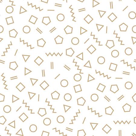 memphis style geometric seamless pattern