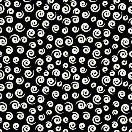 memphis style spiral seamless pattern Vettoriali