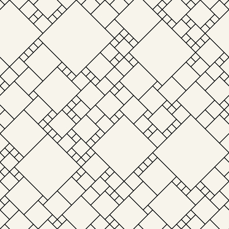 abstract seamless geometric decorative vector square pattern