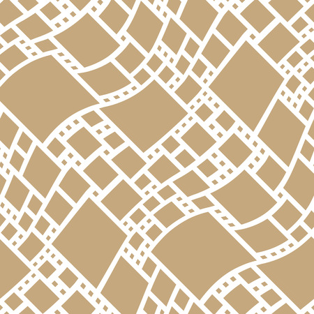 abstract seamless geometric decorative vector square pattern Vector Illustration