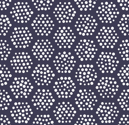 geometric hexagon seamless pattern dot design