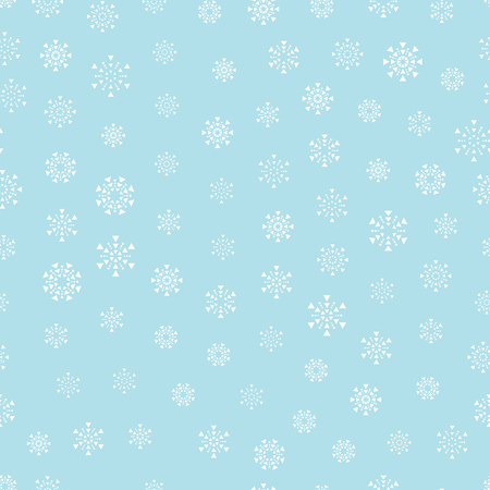 christmas snowflake seamless vector background, winter wrapping paper seamless pattern