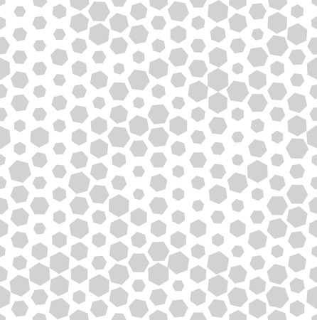 hexagon halftone seamless minimal design pattern, geometric background print texture Ilustração