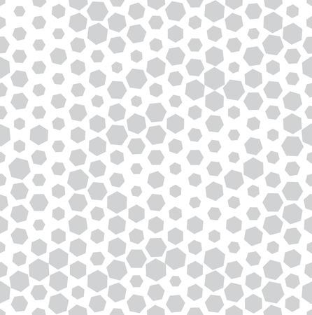 hexagon halftone seamless minimal design pattern, geometric background print texture Illustration