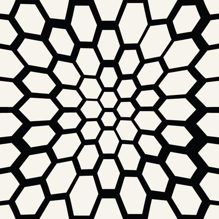 Patrón sin costuras trippy hexagonal, textura de impresión de fondo geométrico mínimo