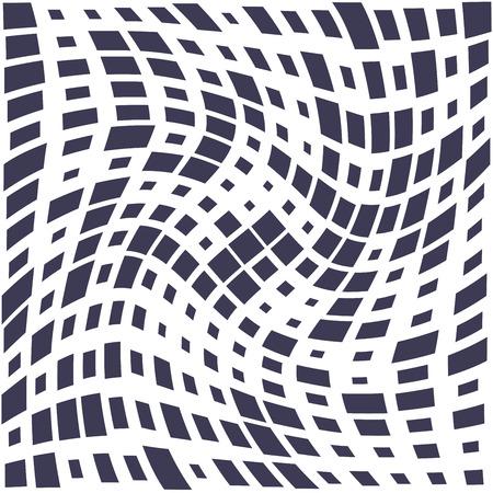 Cuadrado trippy de patrones sin fisuras, textura de impresión de fondo geométrico mínimo