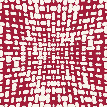 seamless geometric halftone vector pattern Çizim