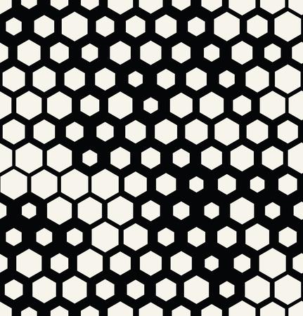 hexagon halftone seamless minimal design pattern, geometric background print texture Çizim