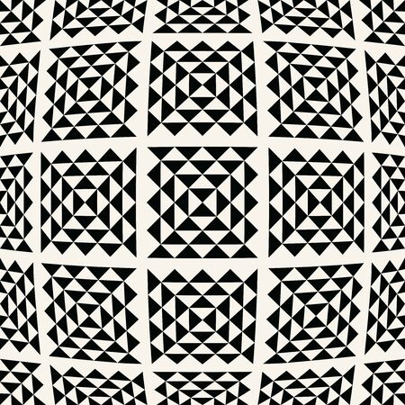 abstract seamless geometric triangle vector pattern, modern background monochrome texture, simple fashion pillow design