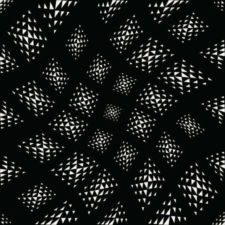 Patrón de vector de triángulo geométrico transparente abstracto, textura monocromática de fondo moderno, diseño de almohada de moda simple