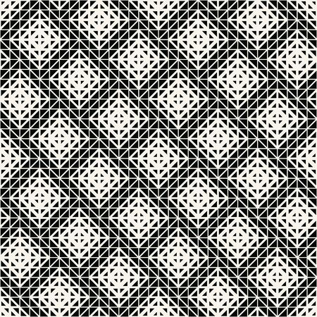 abstract seamless geometric triangle vector pattern, modern background texture, trendy fashion pillow design Ilustração
