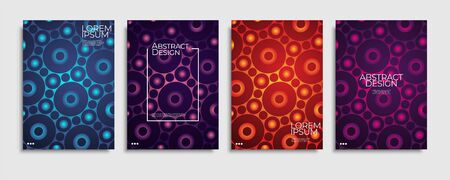 Brochure cover templates set. Minimal colorful gradient abstract background. A4 eps10 vector.