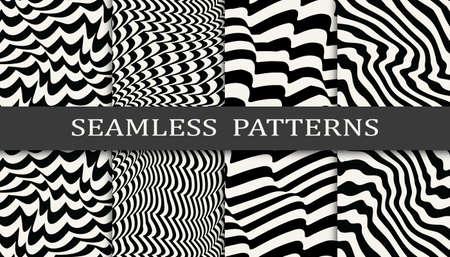 Seamless geometric pattern print set. Abstract background vector illustration. Pattern design.