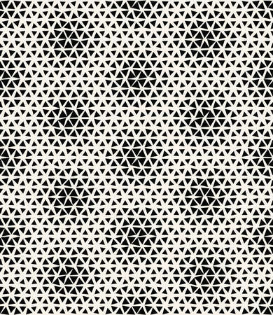 Abstract triangle halftone geometric background pattern print.