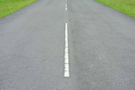 Road asphalt  texture with  lines white  stripe photo