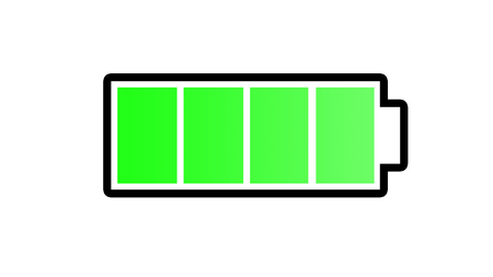 Symbol battery full,Symbol battery green color,Symbol battery isolate