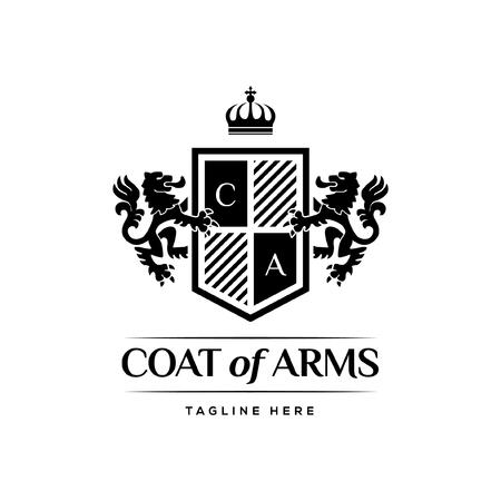 Escudo de armas heráldico concepto de diseño de lujo