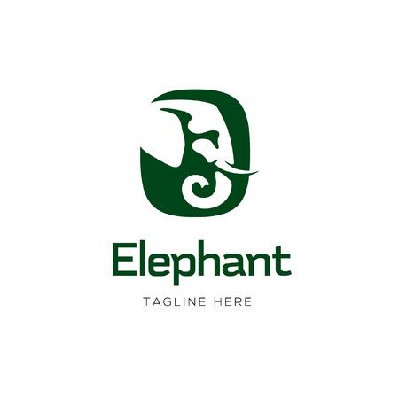 Diseño de icono de signo de elefante