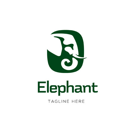 Elephant Sign icon Design 矢量图像