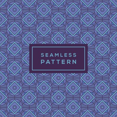 Modern Seamless Color Geometric Pattern with lines Иллюстрация