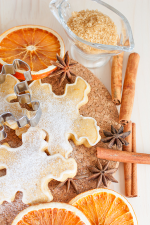 Christmas baking, cookie and spice Stock Photo - 22682830