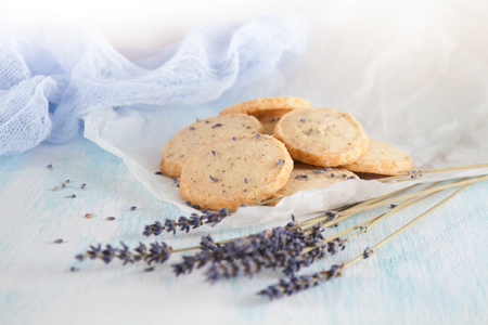 Aromatic lavender cookies. French cuisine, handmade