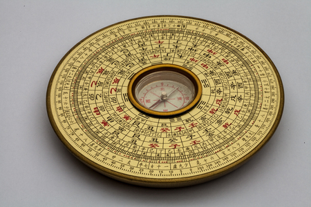 Chinese Luopan compass, used to read Feng Shui of the environment Reklamní fotografie