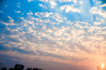 Sunrise and cloud in sky for background 스톡 콘텐츠