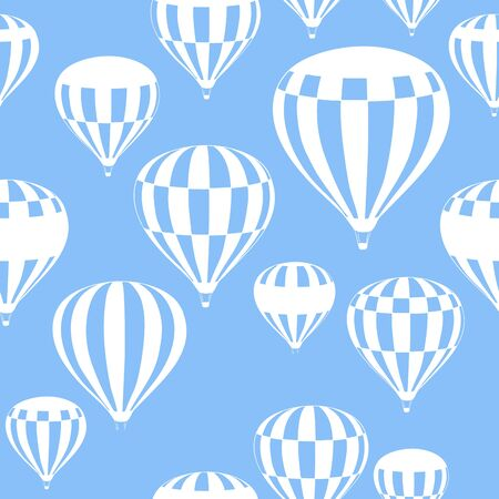 adventure aeronautical: hot air balloons fly in the blue sky, pattern