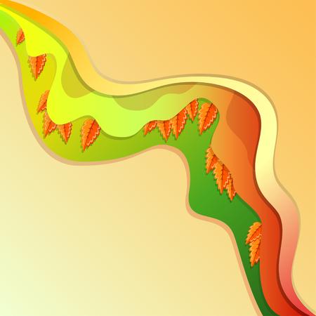 leafage: red and orange oak leaves decorative wallpaper, vector illustration Illustration