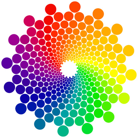 spectra: Color wheel or color circle isolated on white background Illustration