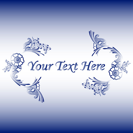 used ornament: Vector illustration of floral ornament with a place for text - can be used as a card