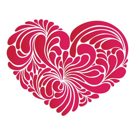 rosy: stylized red heart - love symbol, vector illustrations Illustration