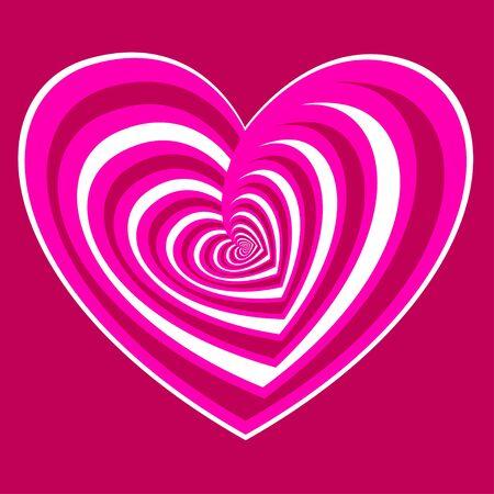 stilizzato cuore rosa - simbolo di amore, illustrazioni vettoriali