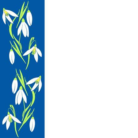 Patroon met sneeuwklokje bloemen. Spring achtergrond. Vector, EPS-10