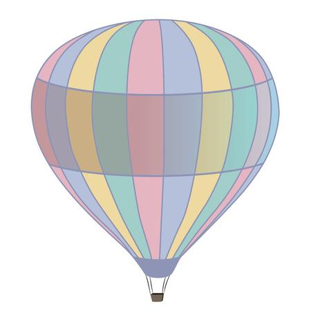 adventure aeronautical: flying multicolored hot air balloon