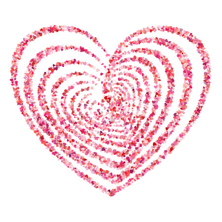 windy day: heart symbol vector