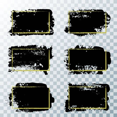 Vector dirty ink black paint, ink brush stroke, brush, line or texture.