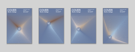Front page trendy futuristic design for business framework corporate report, company advertising brochure. Cover page geometric vector urban design for frontpage, brochure background with light rays.