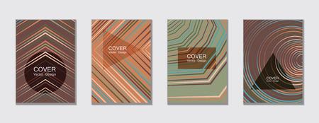 Geometric cover design template for annual report. Trendy presentation templates. Çizim