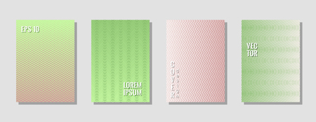 Vibrant zig zag banner templates, wavy lines gradient stripes backgrounds for educational cover.