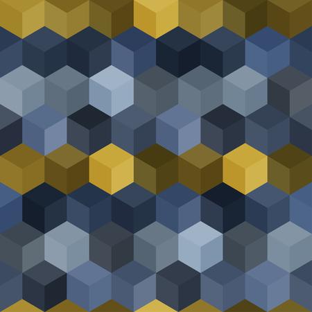 Hexagon grid seamless vector background. Beautiful polygons with six corners geometric graphic design. Çizim