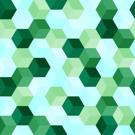 Hexagon grid seamless vector background. Childish polygons with six corners geometric graphic design. Trendy colors hexagon tile pattern for banner or card. Hexagonal shapes modern backdrop.