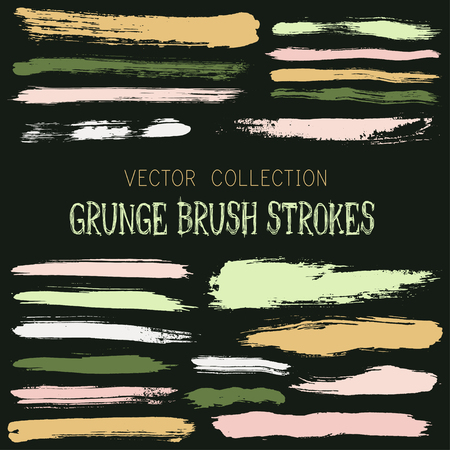 Hipster paint brush strokes