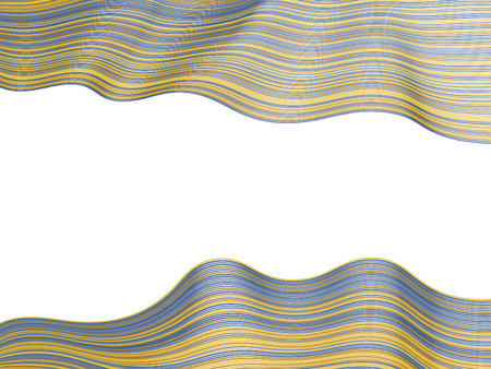 Abstract stripes texture, wavy ribbons horizontal vector image. Curved lines pattern, hipster minimalist background.