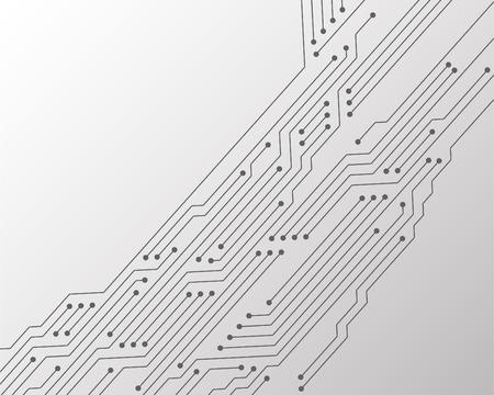 Conception graphique de fond de vecteur de texture de carte de circuit imprimé ou de carte mère. Connexions semi-conductrices de matériel informatique, microcircuit, éléments de carte mère. Fond de connexions de puces de processeur.