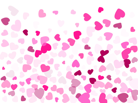 Hearts confetti flying vector background graphic design. Illustration