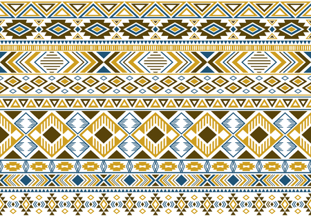 Tribal ethnic motifs geometric vector seamless background.