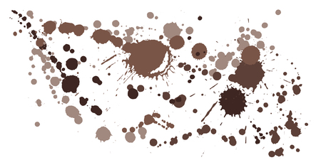 Watercolor paint stains grunge background vector. Mottled ink splatter, spray blots, dirty spot elements, wall graffiti. Watercolor paint splashes pattern, smear fluid splats stains background.